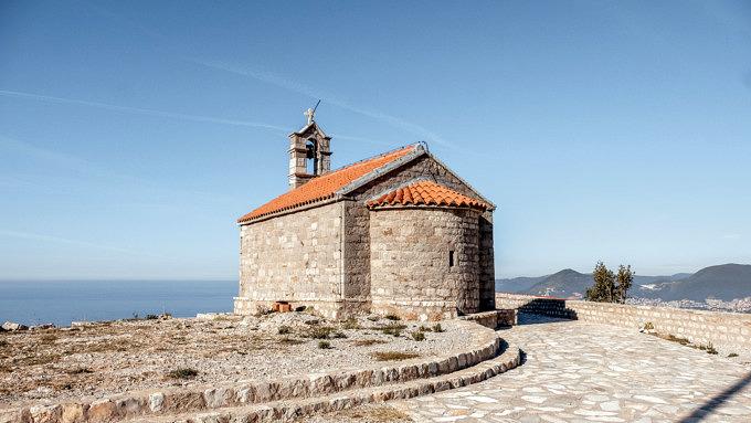 Montenegro Urlaub, Kapelle vor Sv Stefan