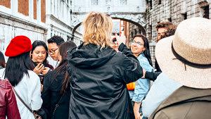 Venedig, Italien, Touristen