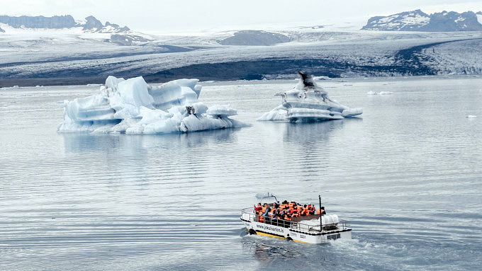 Jökulsárlón Gletscherlagune, Island Natur