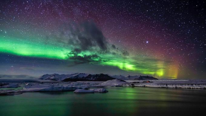 Nordlichter, Island Natur