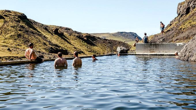 Seljavallalaug Pool, Island Natur