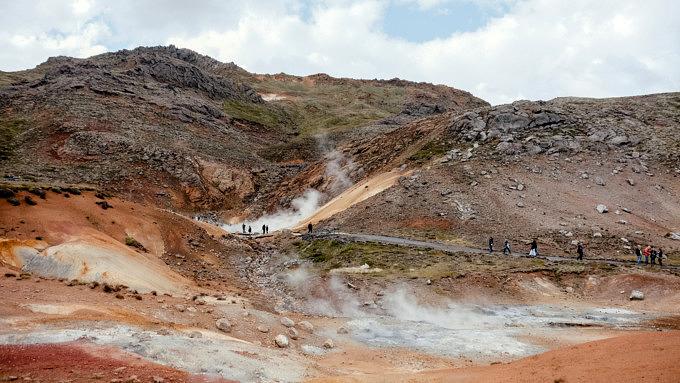 Seltún Geothermal Area, Island Natur