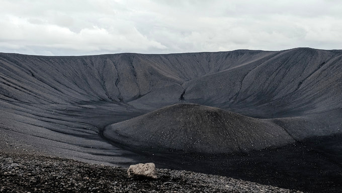 Hverfjall, Island Natur