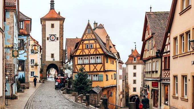 Rothenburg ob der Tauber, Kleinstädte in Deutschland