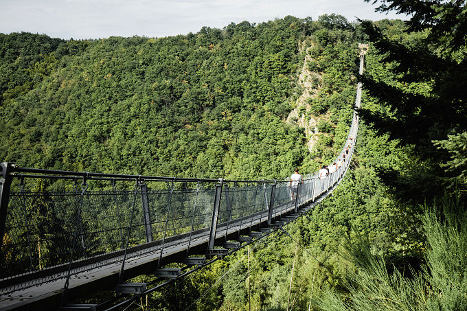 Mosel, Geierlay Hängeseilbrücke, Rheinland Pfalz
