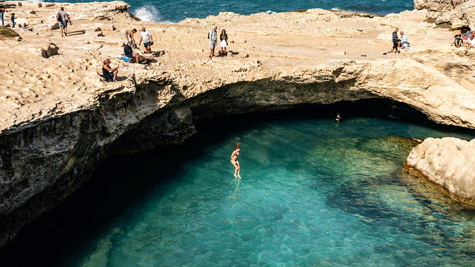 Italien, Apulien, cave of poetry