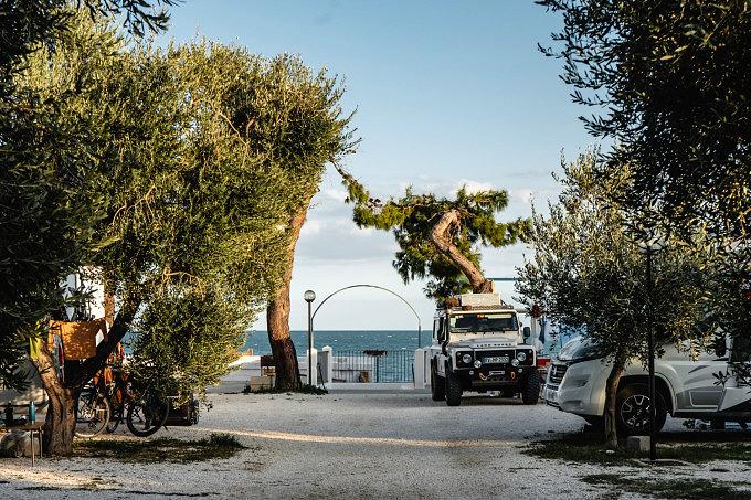 Camping Apulien, Ford Nugget, Apulien, Mattinata, Italien