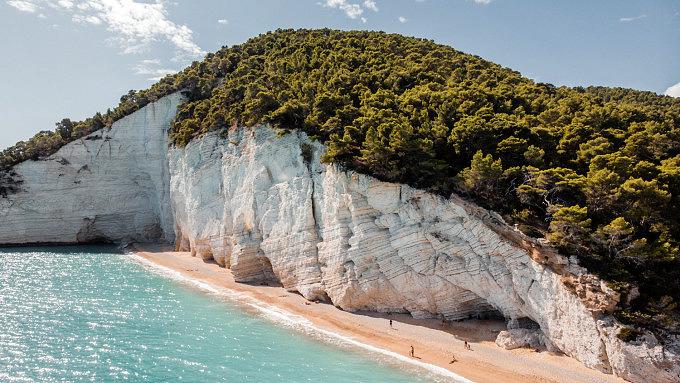 Italien, Apulien, gargano spiaggia di vignanotica