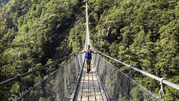Wanderungen im Tessin, Ponte Tibetano
