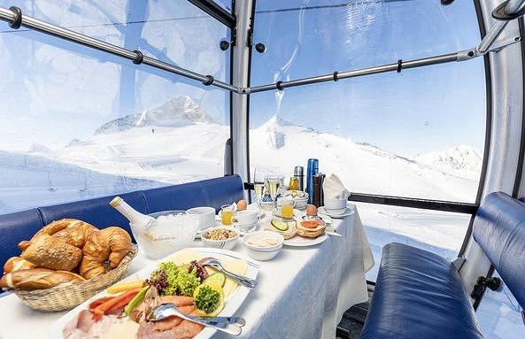 Hintertuxer Gletscher, Winter in Tirol, Österreich