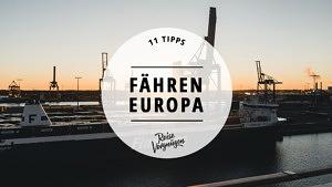 Fähren Europa, Fährstrecken Europa