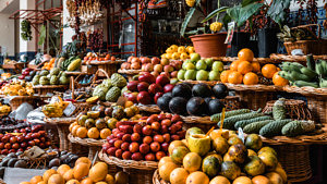 Obst, Gemüse, saisonales Obst