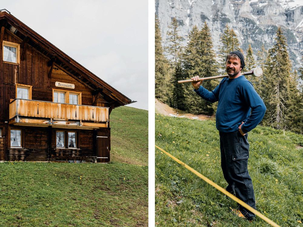 Volunteering Schweiz, Bergeinsatz Caritas, Ruedi von Allmen