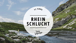 Rheinschlucht, Surselva, Graubünden, Schweiz