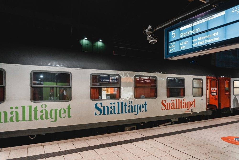 Snälltåget, Nachtzug Berlin Stockholm, Bahnhof