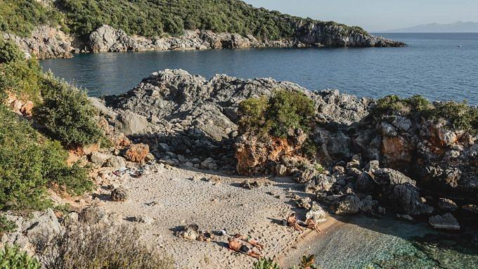 albanien, akuarium beach